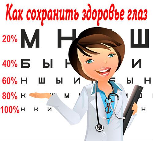 сохранить здоровье глаз, программа Здоровье ваших глаз НСП