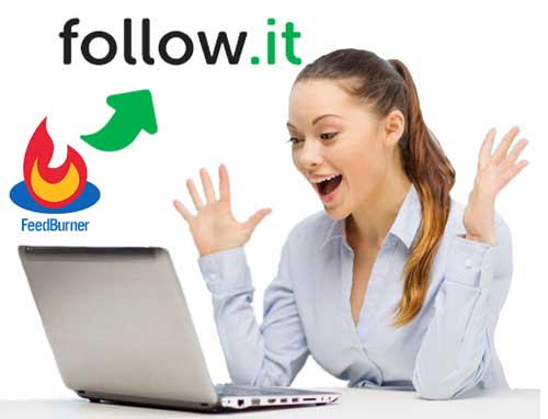 Feedburner, follow.it